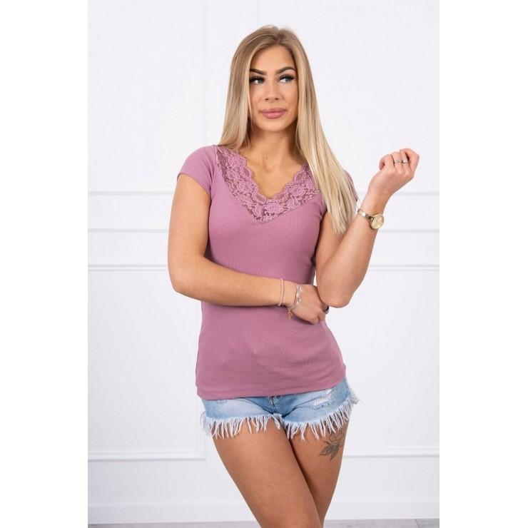 Women T-shirt MI8987 dark pink