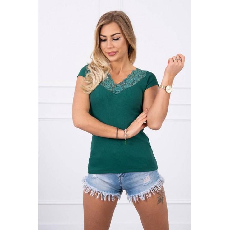Women T-shirt MI8987 green