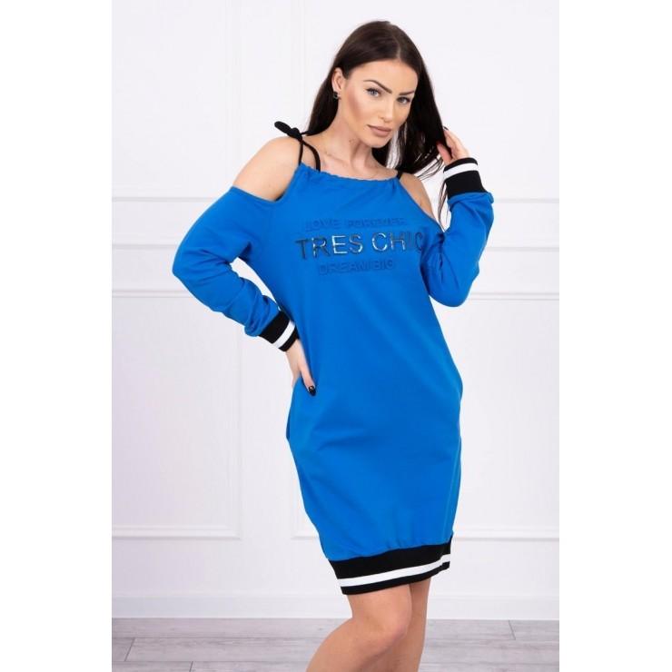 Šaty Tres Chic MI62182 azurovo modré