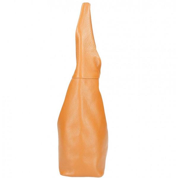 Tmavomodrá kožená kabelka na rameno 590 MADE IN ITALY Modrá