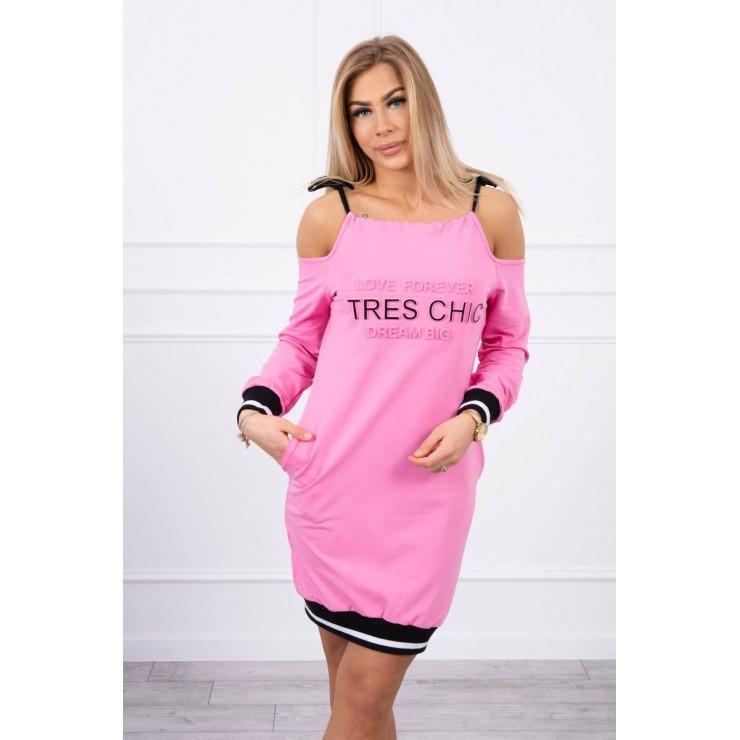 Šaty Tres Chic MI62182 neónovo ružové