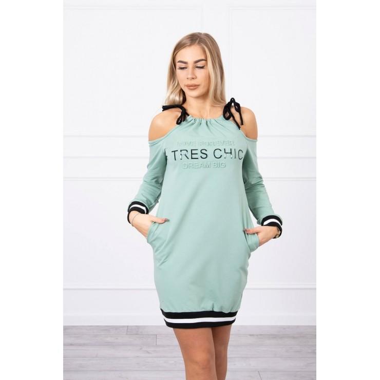 Ladies Dress Tres Chic MI62182 dark mint