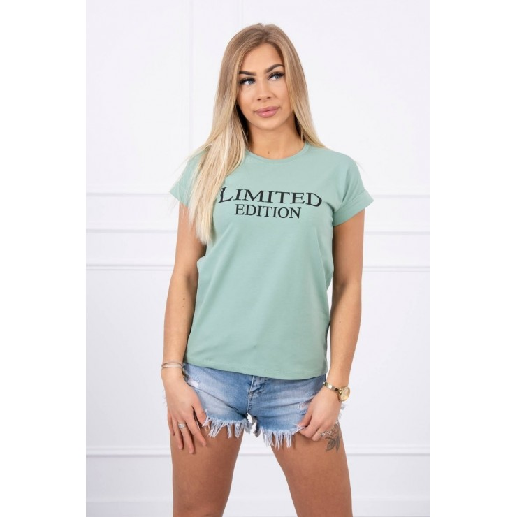 Women T-shirt LIMITED EDITION dark mint MI65296
