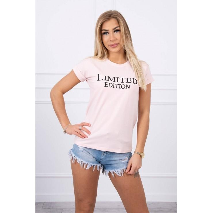Dámske tričko LIMITED EDITION práškové MI65296
