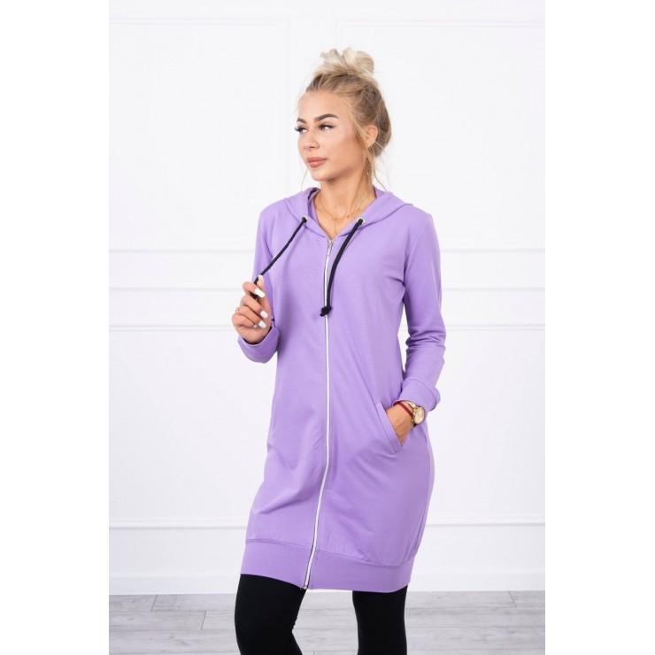 Hooded dress with e hood  MI8924 dark purple