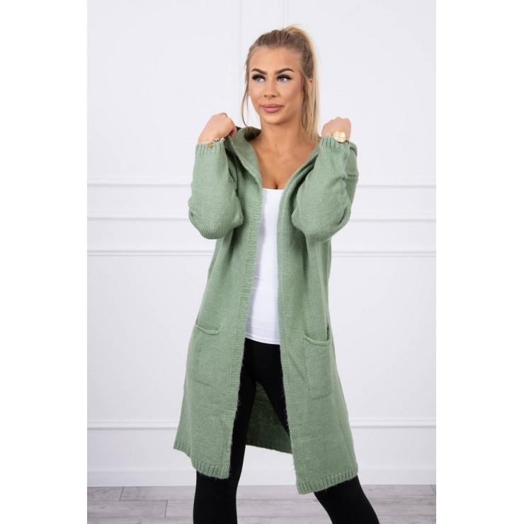 Dámsky sveter s kapucňou MI2020-10 tmavomätový