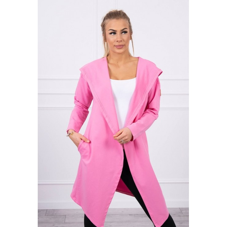 Cape with a hood MI9077 light pink
