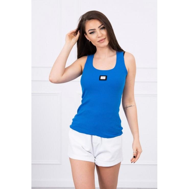 Dámske tričko s plieškom MI8986 azurovo modré