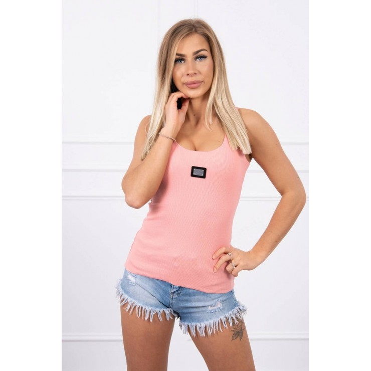 Dámske tričko s plieškom MI8986 marhuľové