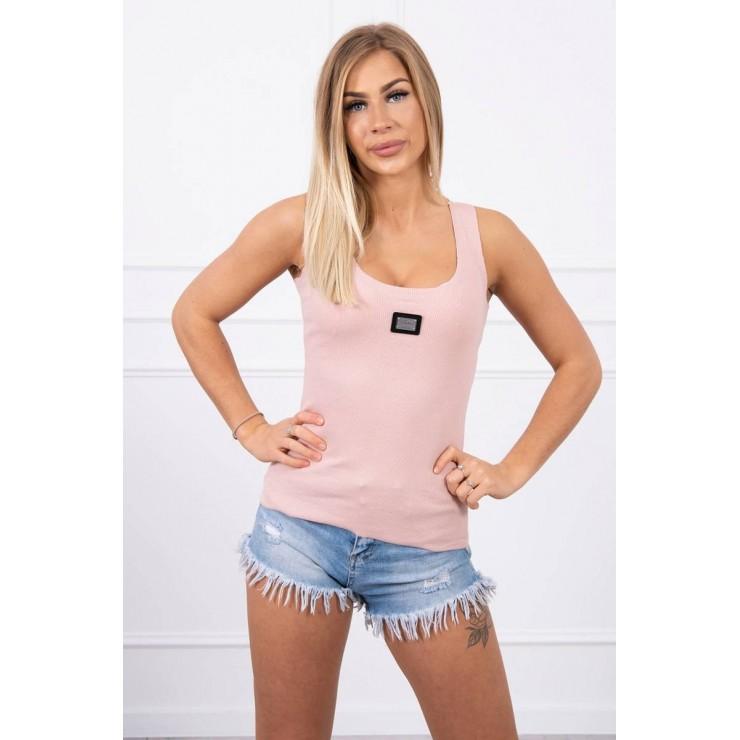 Dámske tričko s plieškom MI8986 tmavo pudrovo ružové