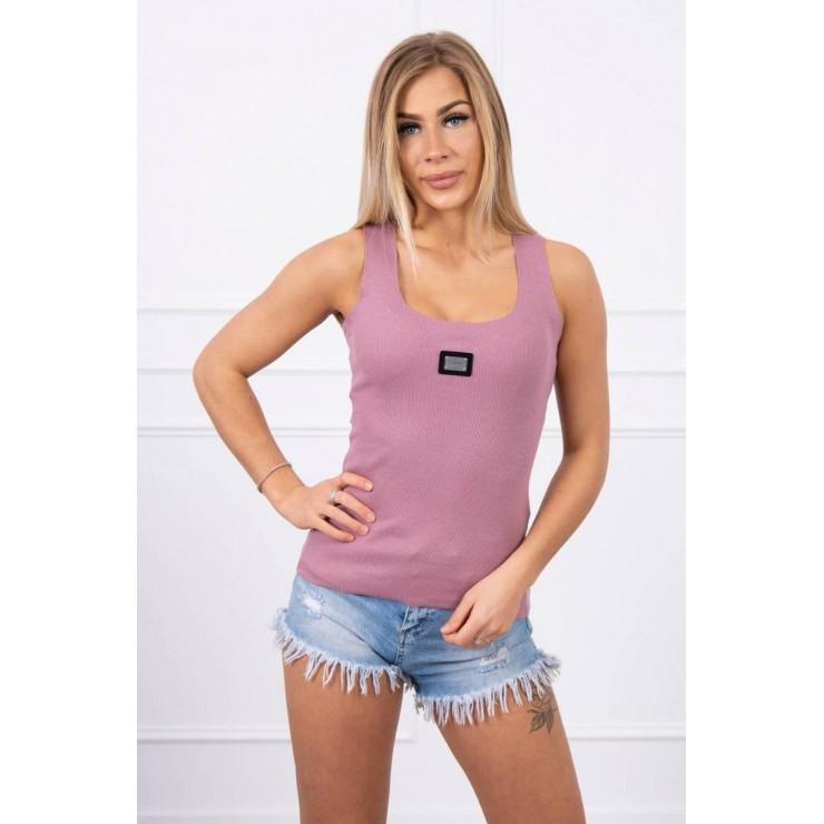 Dámske tričko s plieškom MI8986 tmavoružové