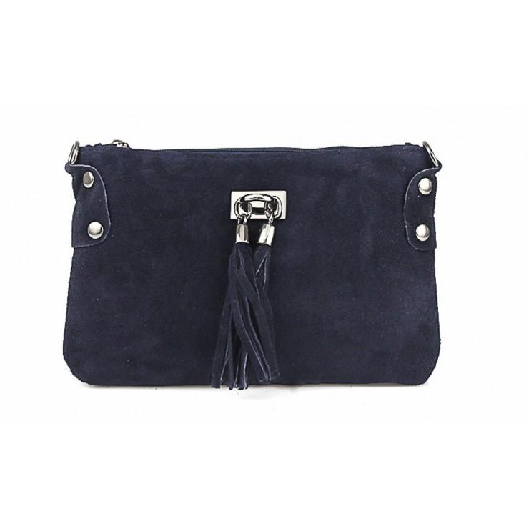 Genuine Leather Handbag 812 blue