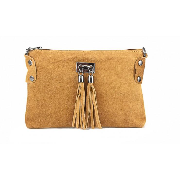 Genuine Leather Handbag 812 cognac