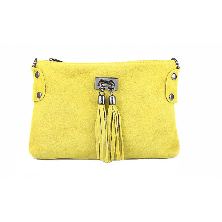 Genuine Leather Handbag 812 yellow