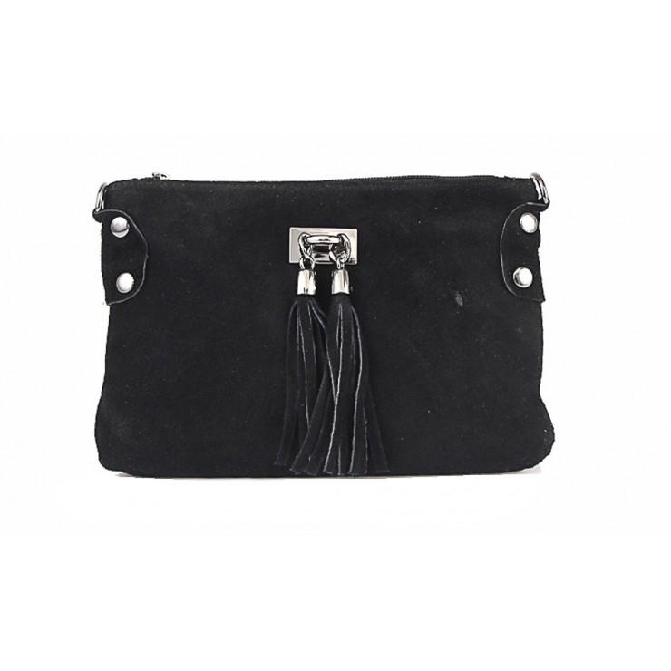 Genuine Leather Handbag 812 black