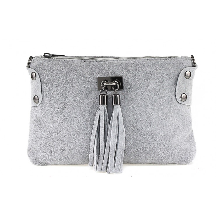 Genuine Leather Handbag 812 gray