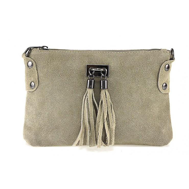Genuine Leather Handbag 812 taupe