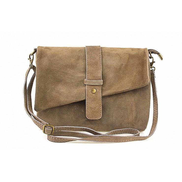 Genuine Leather Handbag 442 dark taupe