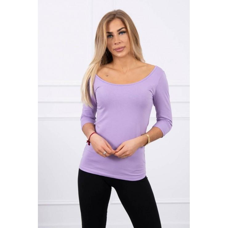 Tričko s okrúhlym výstrihom MI8832 fialové