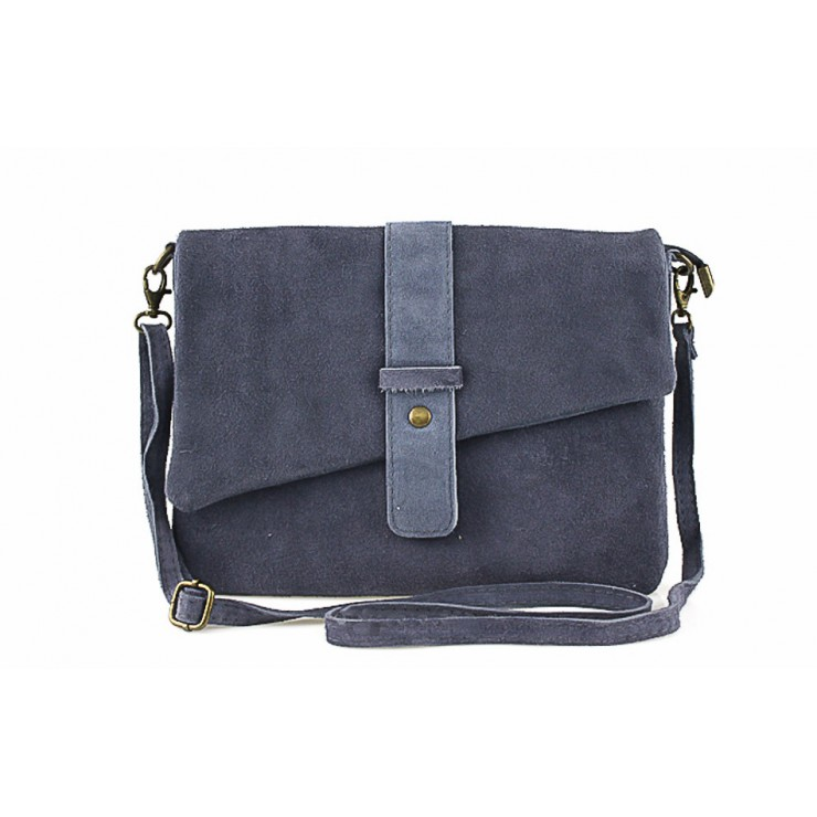 Genuine Leather Handbag 442 dark gray