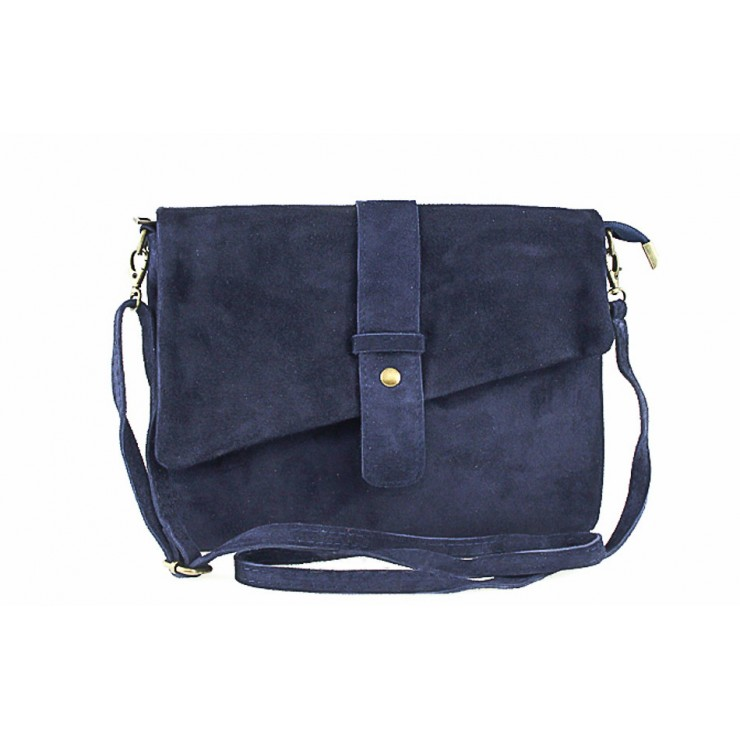Genuine Leather Handbag 442 blue
