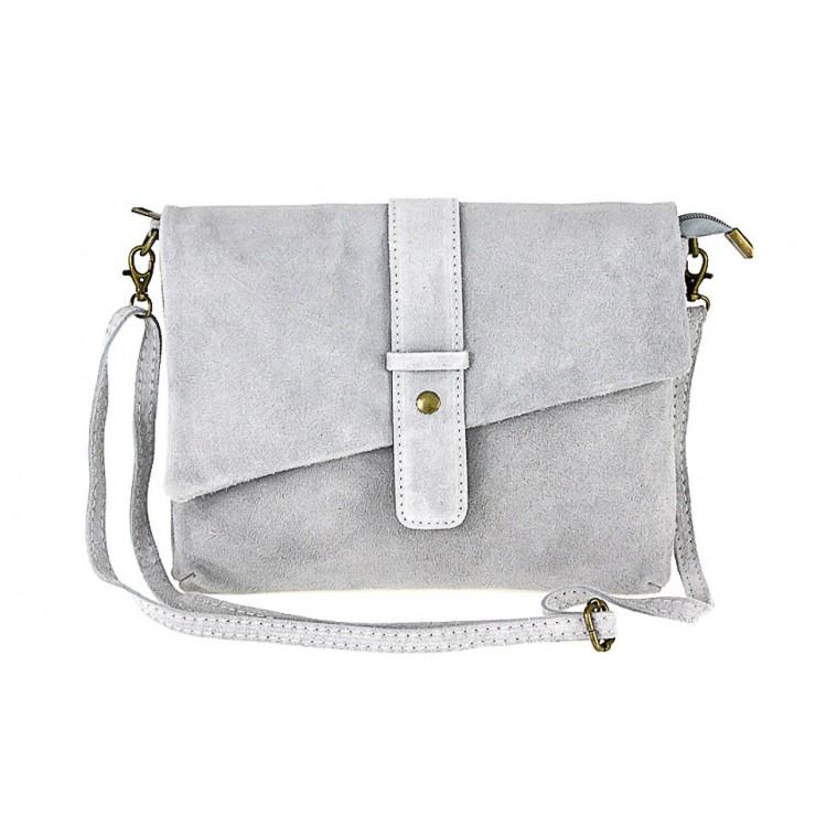 Genuine Leather Handbag 442 gray