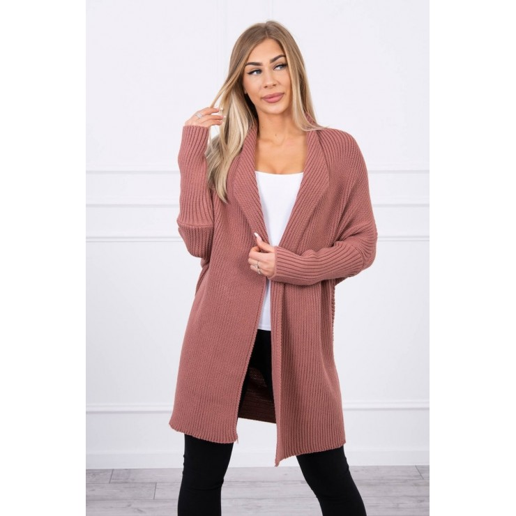Sweater with sleeves bat type MI2019-13 dark pink