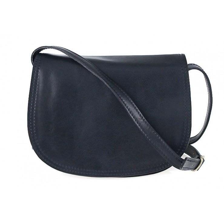 Kožená kabelka na rameno 675 modrá