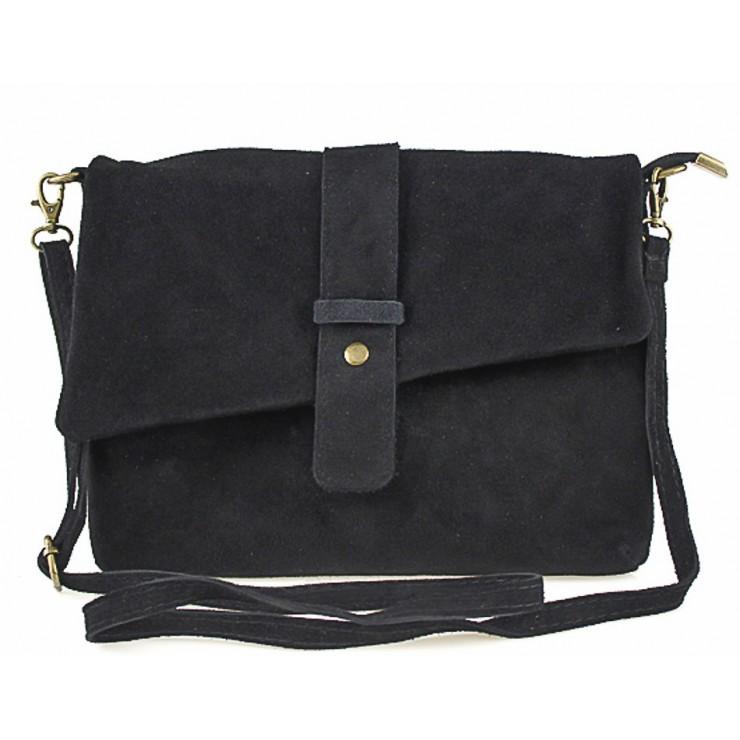 Genuine Leather Handbag 442 black