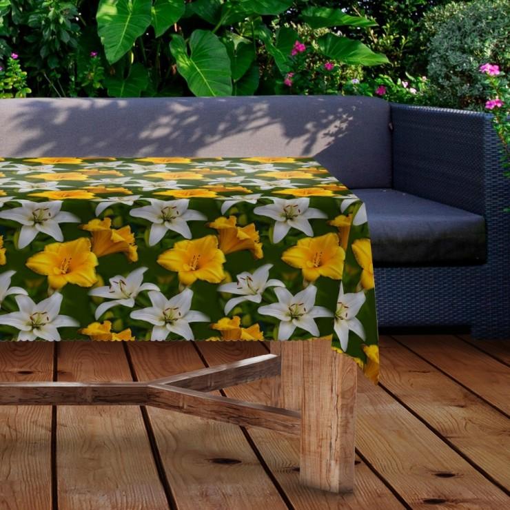Waterproof garden tablecloth MIGD434-100 lilies