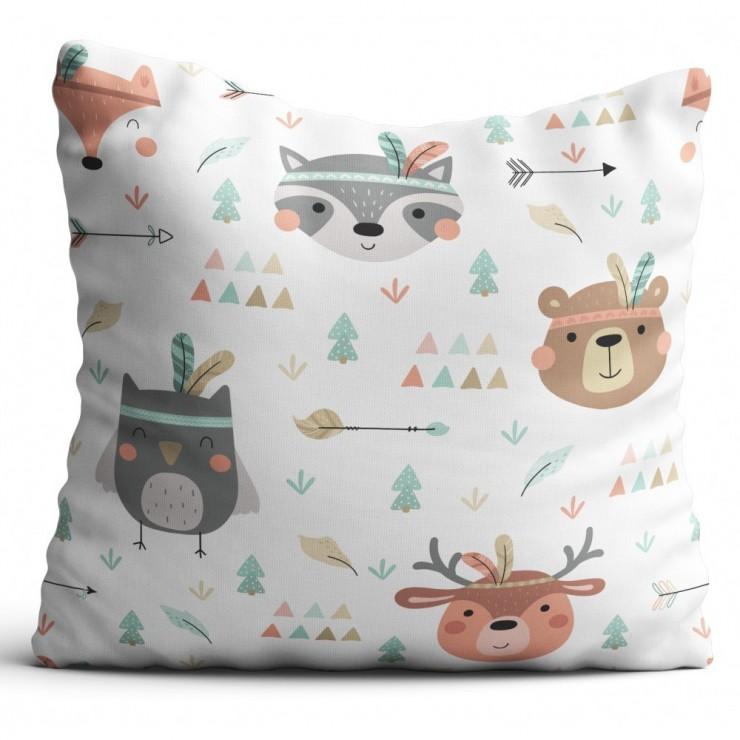 Pillowcase 40x40 cm forest animals