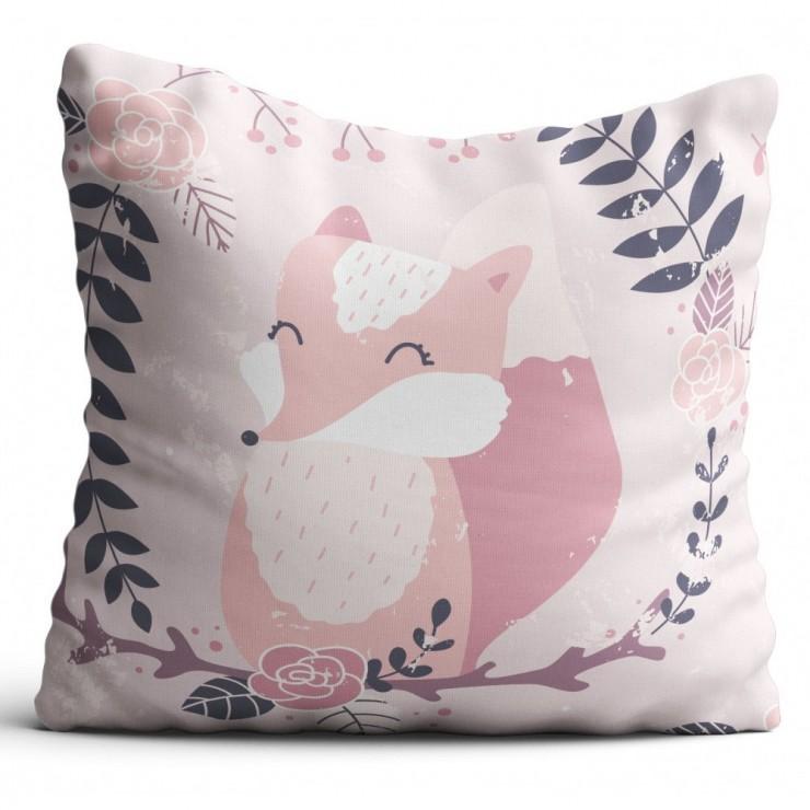 Pillowcase 40x40 cm pink fox