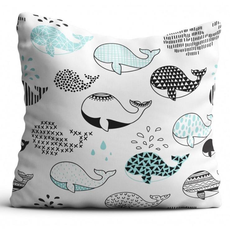 Pillowcase 40x40 cm whales