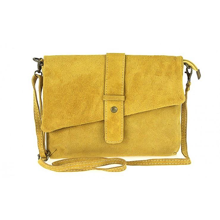 Genuine Leather Handbag 442 mustard