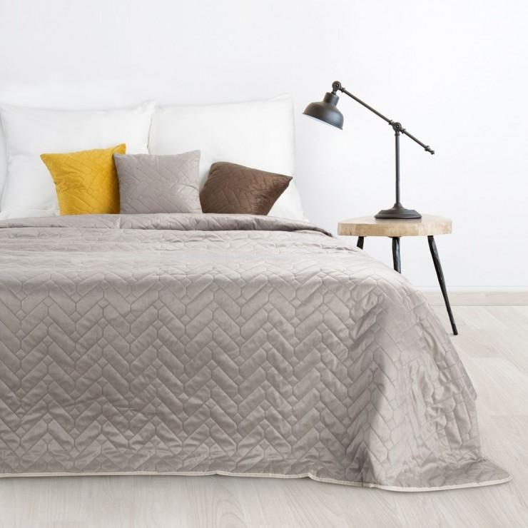 Sametový přehoz na postel Luiz béžový