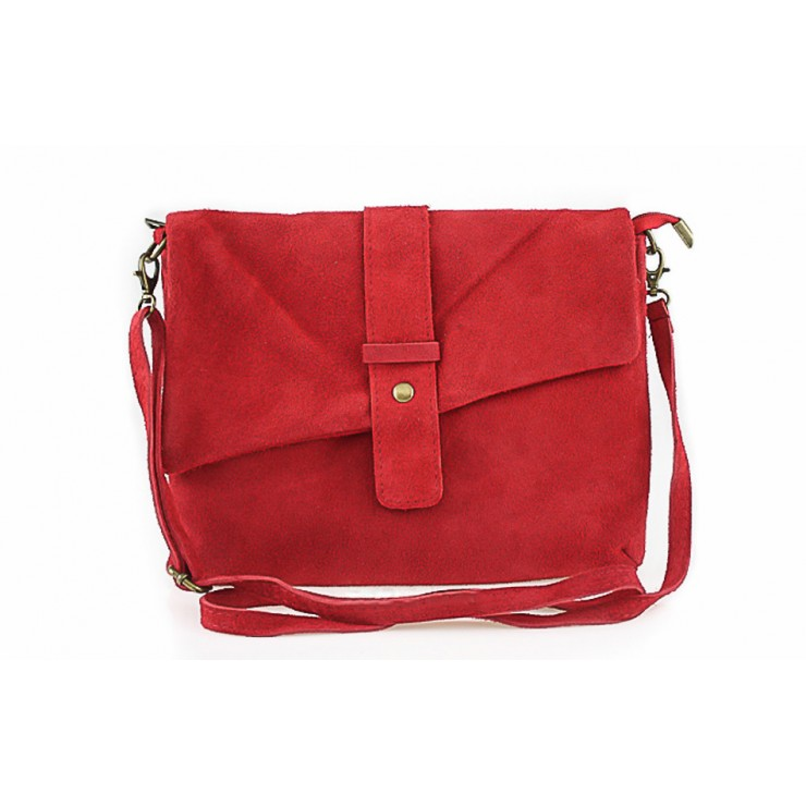 Genuine Leather Handbag 442 red