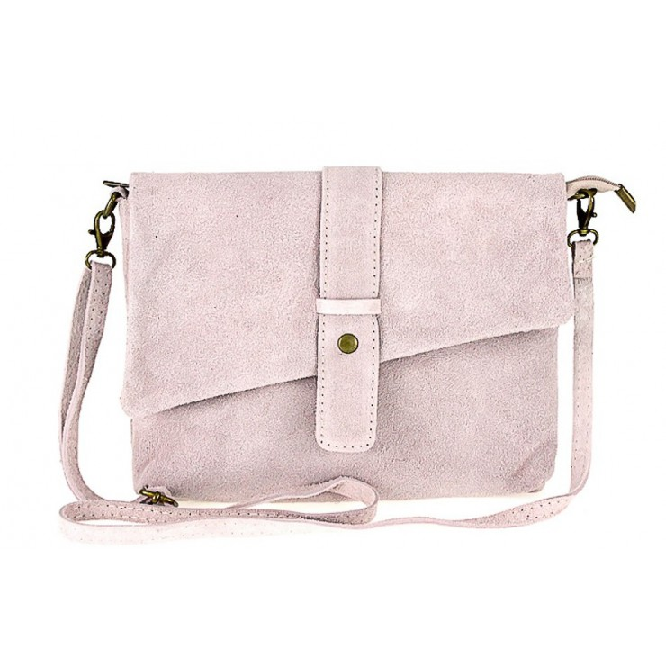 Genuine Leather Handbag 442 pink