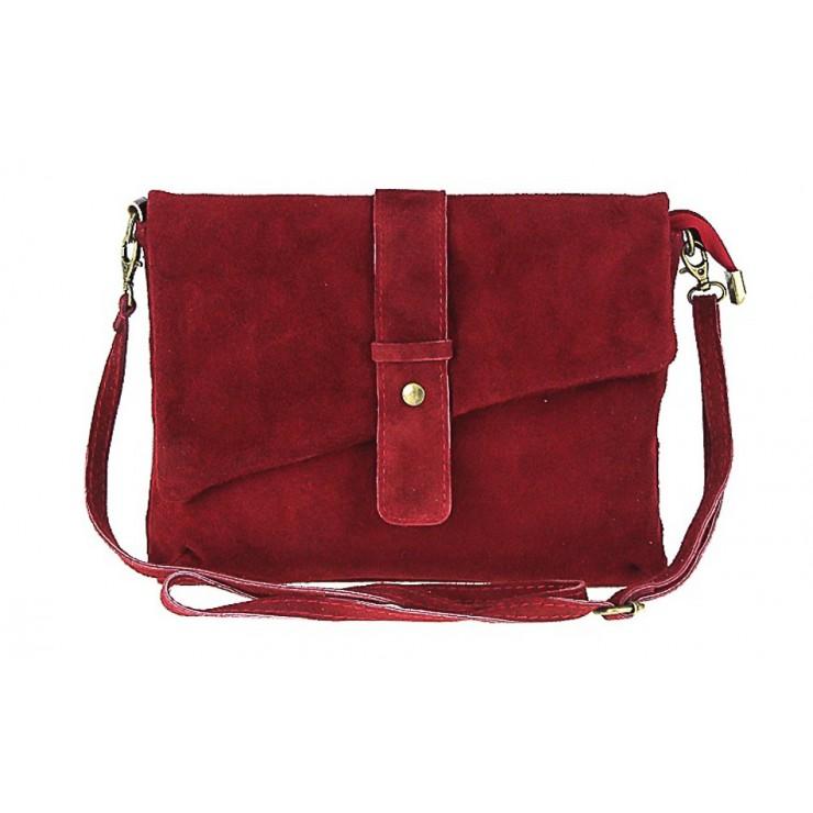 Genuine Leather Handbag 442 dark red