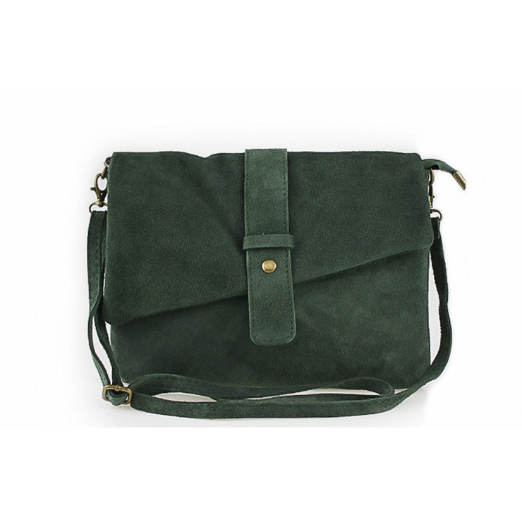 Genuine Leather Handbag 442 dark green