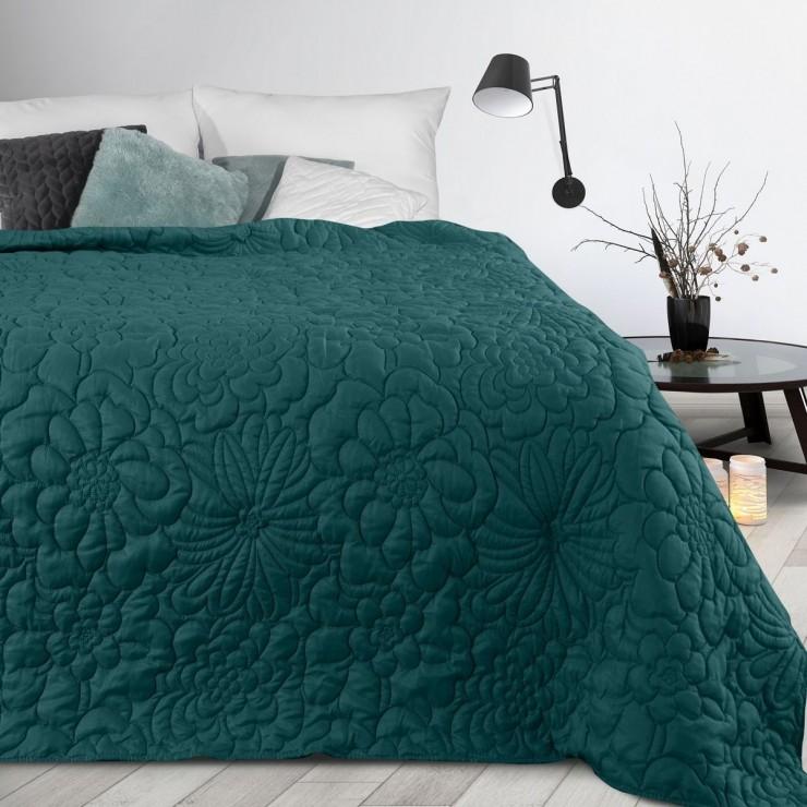 Prehoz na posteľ Alara4 smaragdovo zelený