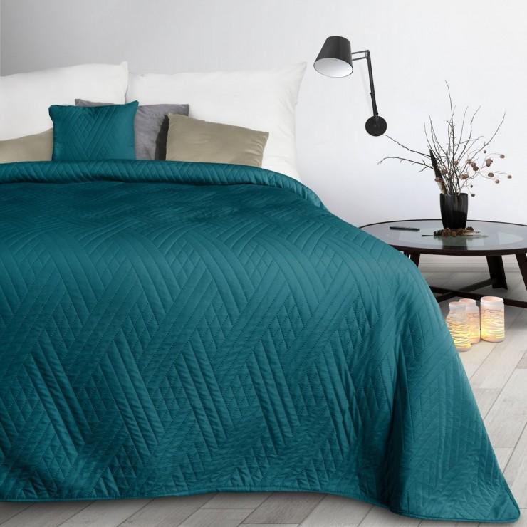 Prehoz na posteľ Boni1 smaragdovo zelený