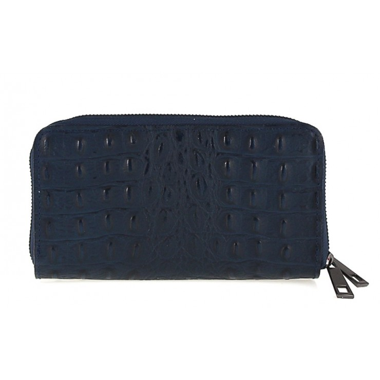 Woman genuine leather wallet 822 blue