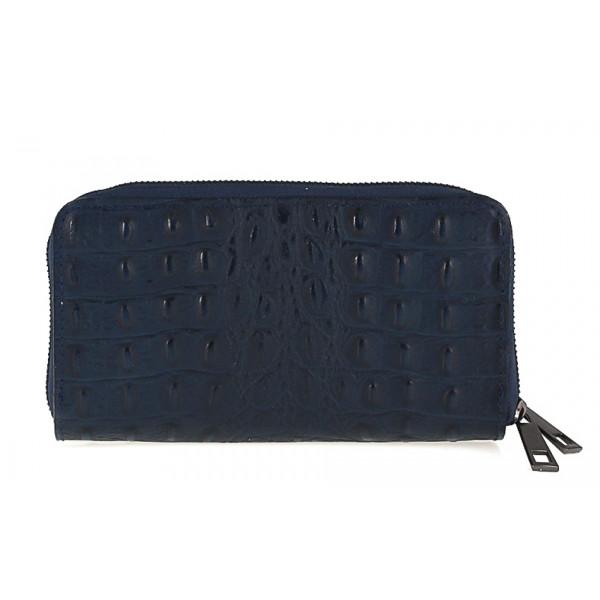 Kožená peňaženka kroko štýl 822 modrá