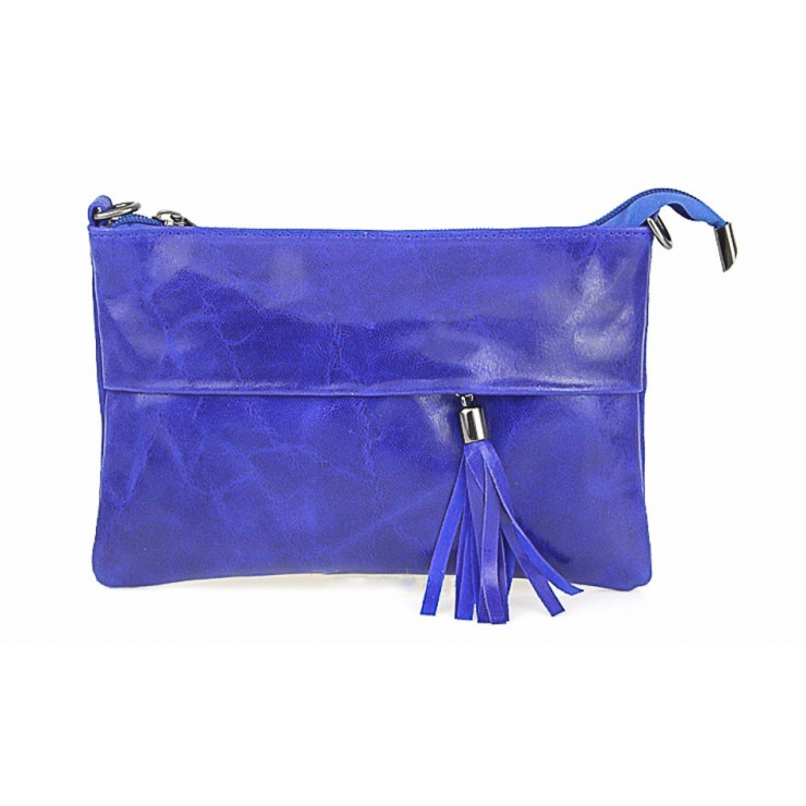 Genuine Leather Handbag 1423A bluette