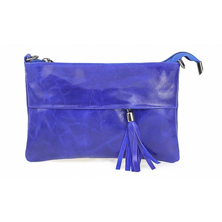 Kožená kabelka 1423A azurově modrá