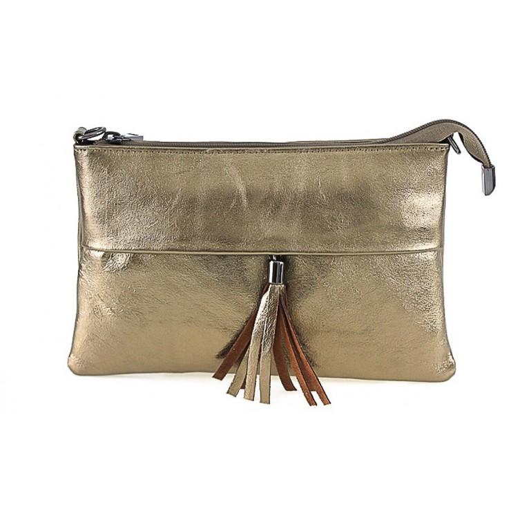 Kožená kabelka 1423A bronzová