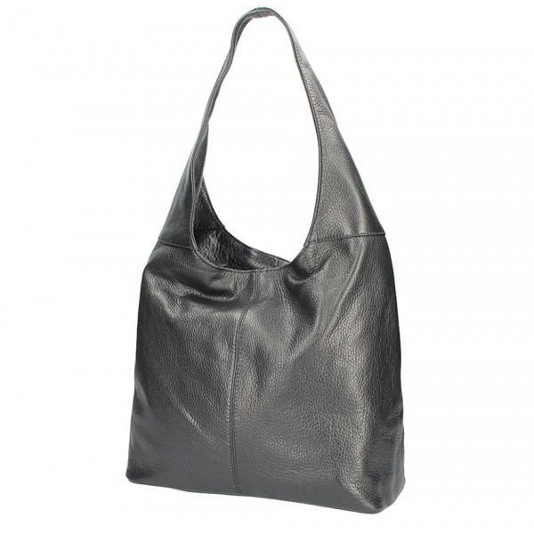 c6b73fc688 Čierna kožená kabelka na rameno 5308 - MONDO ITALIA s.r.o.