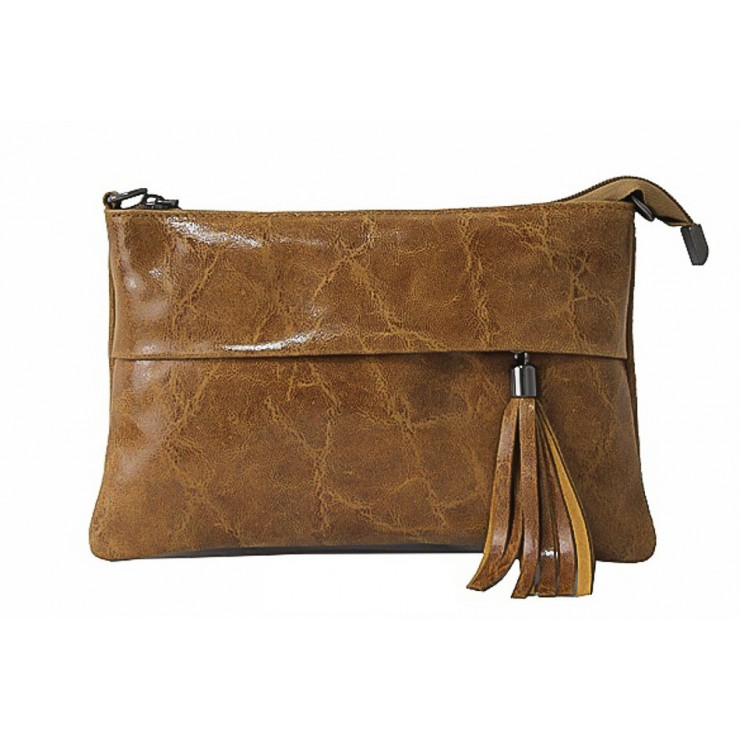 Genuine Leather Handbag 1423A cognac