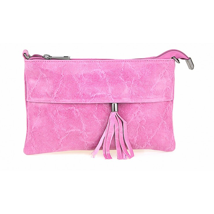 Genuine Leather Handbag 1423A fuxia