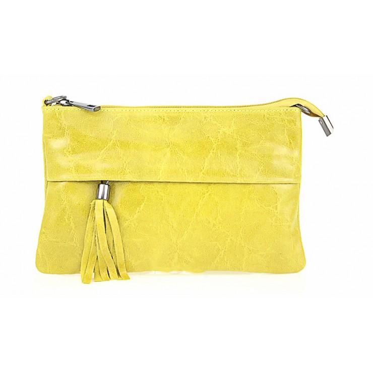 Kožená kabelka 1423A žlutá